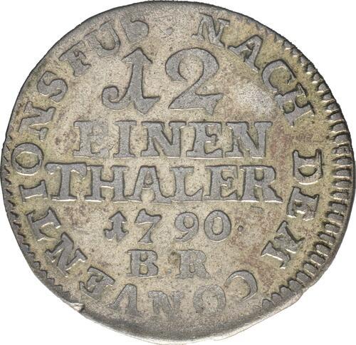 Vorderseite:Deutschland : 1/12 Taler Wilhelm Leopold  1790 ss.