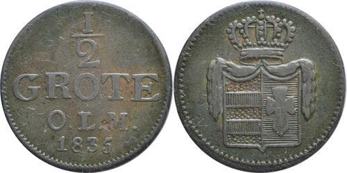 Lieferumfang :Deutschland : 1/2 Grote   1835 ss.