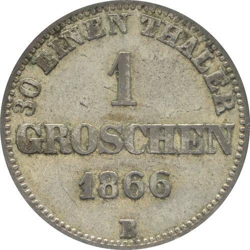 Vorderseite:Deutschland : 1 Groschen   1866 ss.