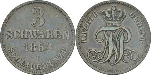 Lieferumfang:Deutschland : 3 Schwaren  patina 1864 vz.