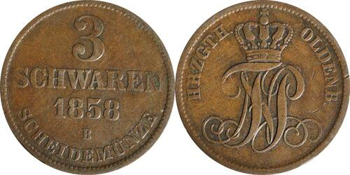 Lieferumfang:Deutschland : 3 Schwaren   1858 ss.