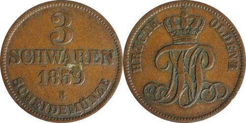 Lieferumfang:Deutschland : 3 Schwaren   1859 ss.