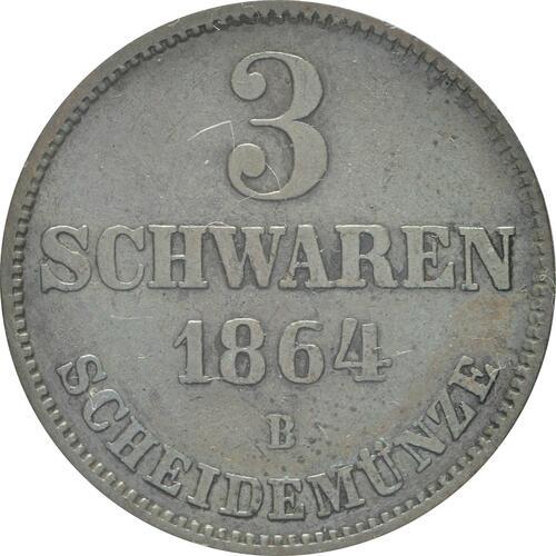 Vorderseite:Deutschland : 3 Schwaren   1964 ss/vz.