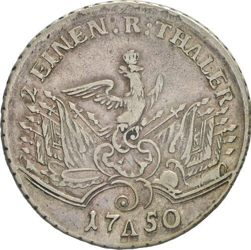Rückseite:Deutschland : 1/2 Reichstaler   1750 ss/vz.