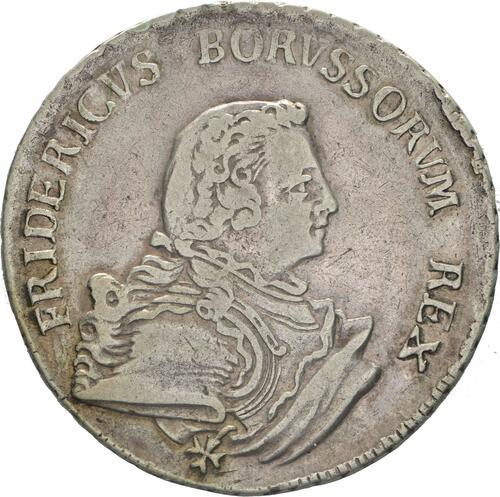 Vorderseite:Deutschland : 1/2 Reichstaler   1750 ss/vz.