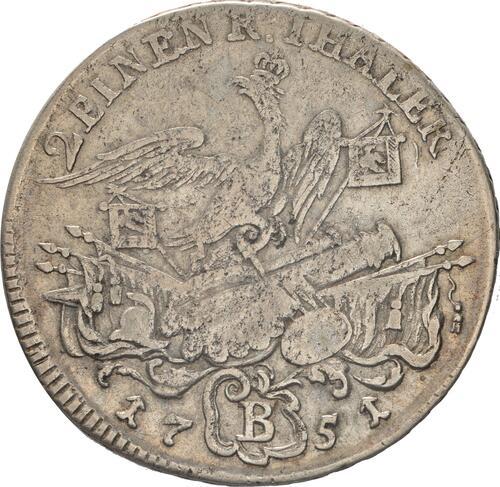 Rückseite:Deutschland : 1/2 Reichstaler   1751 s/ss.