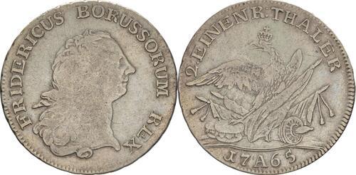 Lieferumfang:Deutschland : 1/2 Reichstaler   1765 f.ss