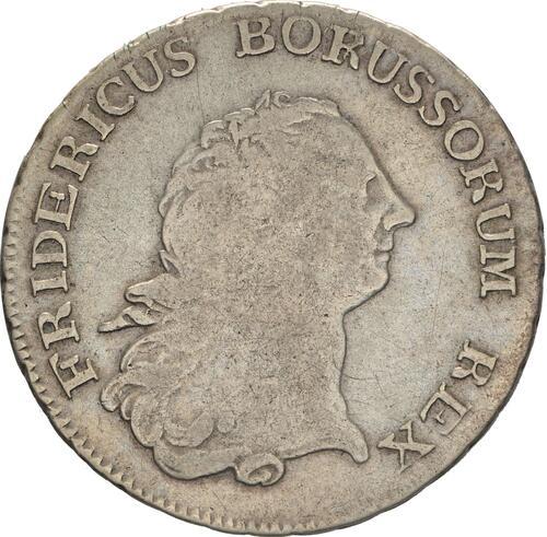 Vorderseite:Deutschland : 1/2 Reichstaler   1765 f.ss