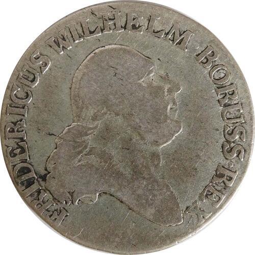 Vorderseite:Deutschland : 4 Groschen   1797 s/ss.