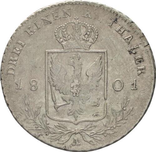 Rückseite:Deutschland : 1/3 Taler  -selten- 1801 s/ss.
