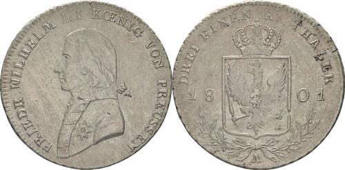 Lieferumfang:Deutschland : 1/3 Taler  -selten- 1801 s/ss.