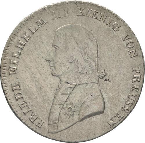 Vorderseite:Deutschland : 1/3 Taler  -selten- 1801 s/ss.