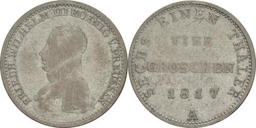 Lieferumfang:Deutschland : 1/6 Taler   1817 f.ss