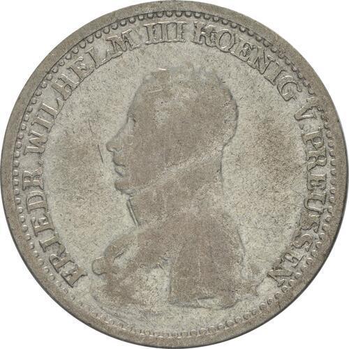 Vorderseite:Deutschland : 1/6 Taler   1817 f.ss