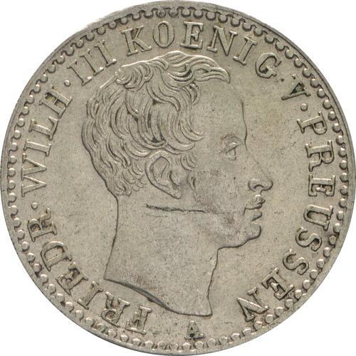 Vorderseite:Deutschland : 1/6 Taler  winz. Kratzer 1822 f.vz.