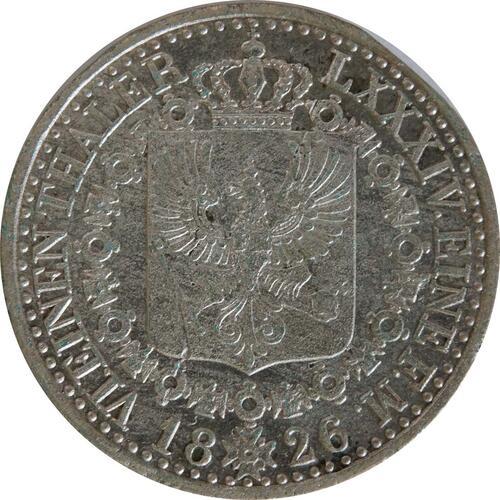 Rückseite:Deutschland : 1/6 Taler   1826 ss.
