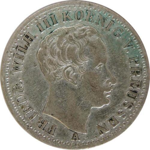 Vorderseite:Deutschland : 1/6 Taler   1825 ss.