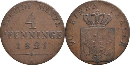 Lieferumfang:Deutschland : 4 Pfennig   1821 ss.