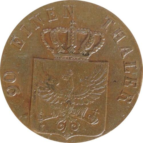 Rückseite :Deutschland : 4 Pfennig  -seltene Erhaltung- 1822 vz/Stgl.