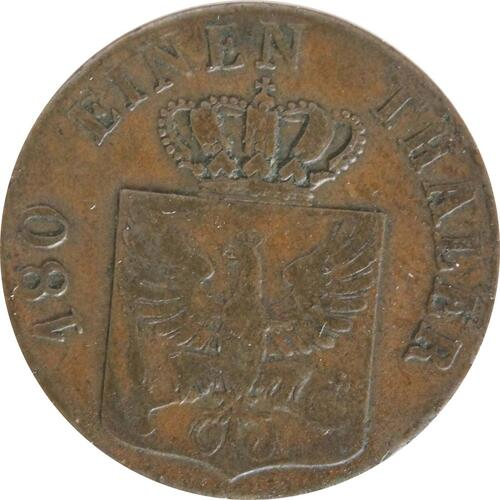 Rückseite:Deutschland : 2 Pfennig   1826 vz.