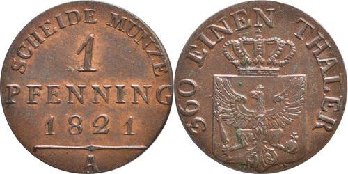 Lieferumfang :Deutschland : 1 Pfennig   1821 Stgl.
