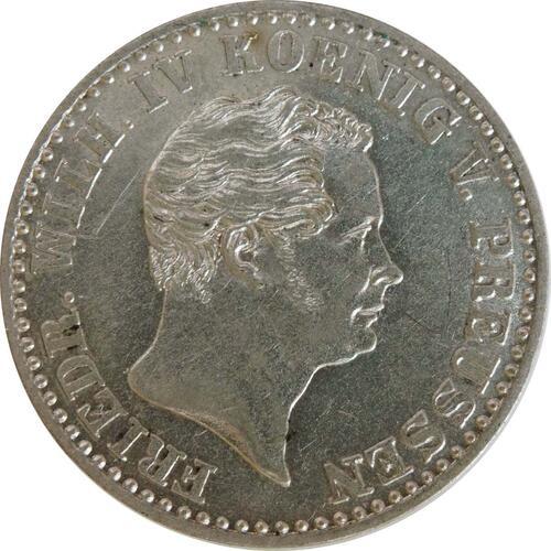 Rückseite :Deutschland : 2 1/2 Silbergroschen   1843 vz/Stgl.