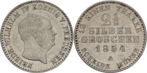 Lieferumfang:Deutschland : 2 1/2 Silbergroschen   1854 vz.