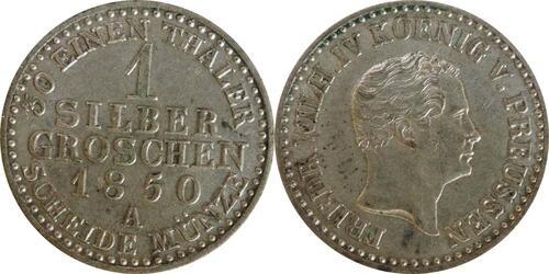 Lieferumfang :Deutschland : 1 Silbergroschen   1850 vz.