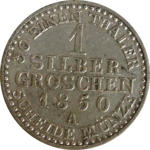 Vorderseite :Deutschland : 1 Silbergroschen   1850 vz.