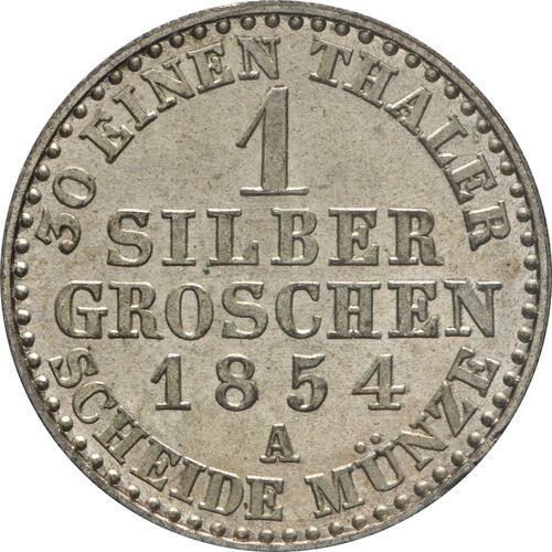 Rückseite :Deutschland : 1 Silbergroschen   1854 Stgl.