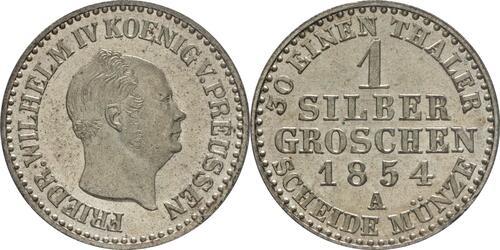Lieferumfang :Deutschland : 1 Silbergroschen   1854 Stgl.