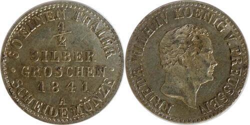 Lieferumfang:Deutschland : 1/2 Silbergroschen   1841 vz/Stgl.