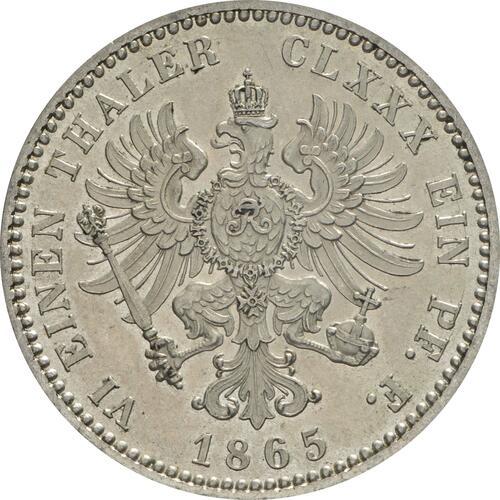 Rückseite:Deutschland : 1/6 Taler  winz. Kratzer 1865 f.Stgl.