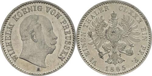 Lieferumfang:Deutschland : 1/6 Taler  winz. Kratzer 1865 f.Stgl.