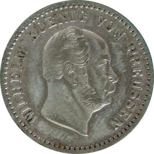 Rückseite:Deutschland : 2 1/2 Silbergroschen   1862 ss/vz.