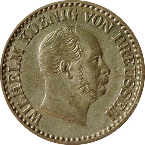 Rückseite :Deutschland : 1 Silbergroschen   1863 vz.