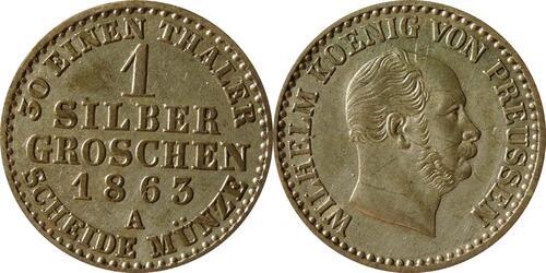 Lieferumfang :Deutschland : 1 Silbergroschen   1863 vz.