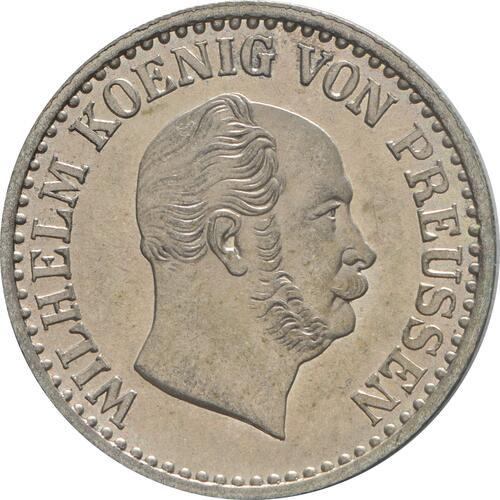 Vorderseite:Deutschland : 1 Silbergroschen  !Erhaltung! 1870 Stgl.