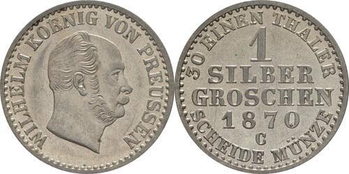 Lieferumfang:Deutschland : 1 Silbergroschen   1870 vz/Stgl.