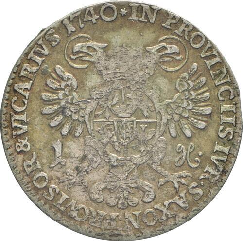 Rückseite:Deutschland : 1 Groschen a.d. Vicariat patina 1740 vz.