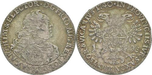 Lieferumfang:Deutschland : 1 Groschen a.d. Vicariat patina 1740 vz.