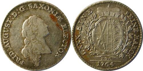 Lieferumfang:Deutschland : 1/6 Taler  patina 1764 vz.