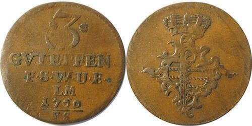 Lieferumfang :Deutschland : 3 Pfennig   1760 ss.