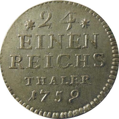 Vorderseite:Deutschland : 1/24 Taler  -selten- 1759 vz.