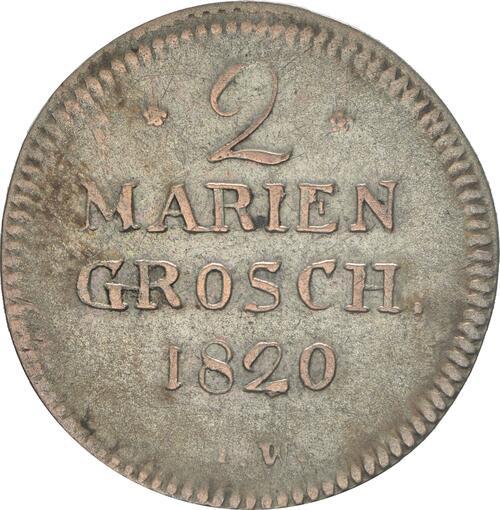 Vorderseite:Deutschland : 2 Mariengroschen   1820 ss.