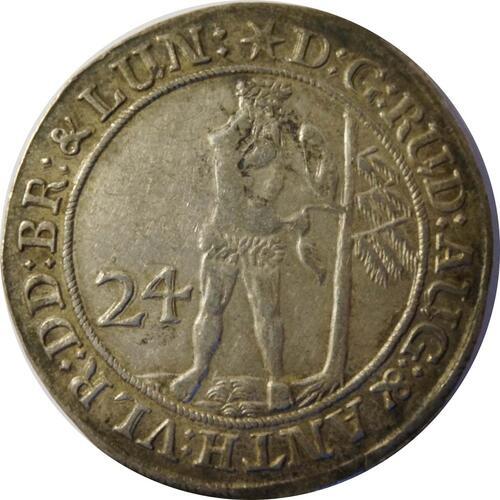 Rückseite:Deutschland : 24 Mariengroschen   1690 ss/vz.