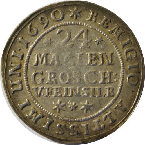Vorderseite:Deutschland : 24 Mariengroschen   1690 ss/vz.