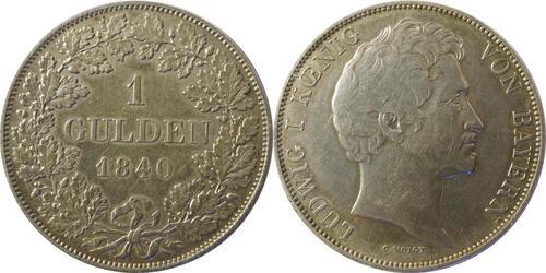 Lieferumfang :Deutschland : 1 Gulden   1840 ss/vz.