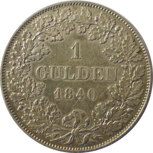 Vorderseite :Deutschland : 1 Gulden   1840 ss/vz.