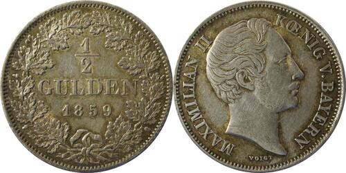 Lieferumfang :Deutschland : 1/2 Gulden  patina 1859 vz.